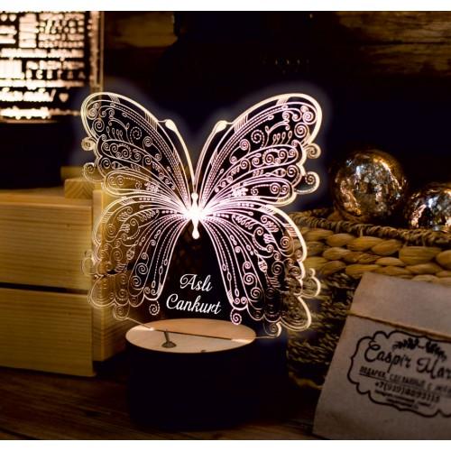 Kelebek Model 3d Led Gece Lambası