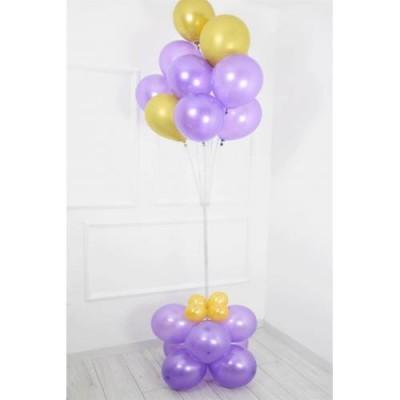 Balon Standı 11 Başlıklı Balon Demeti Mor