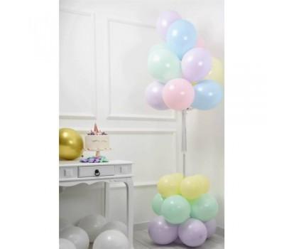 Balon Standı 11 Li Balon Demeti Makaron Renkler