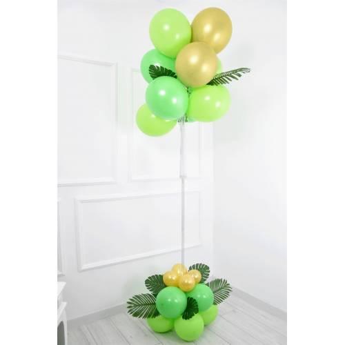 Balon Standı Krom Gold Yeşil Safari 11 li