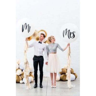 Bekarlığa Veda 2 Li MRS&MR Yazılı Beyaz Balon