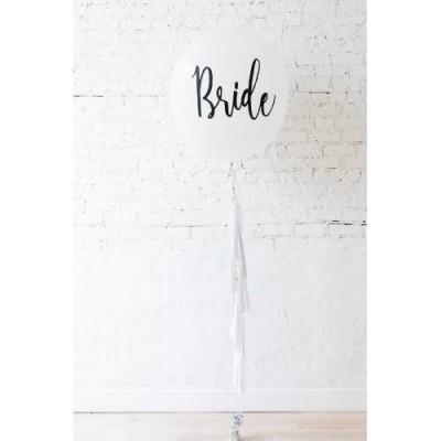 Bride Baskılı Püsküllü Beyaz Balon