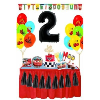 Cars Temalı 2 Yaş Doğum Günü Parti Seti