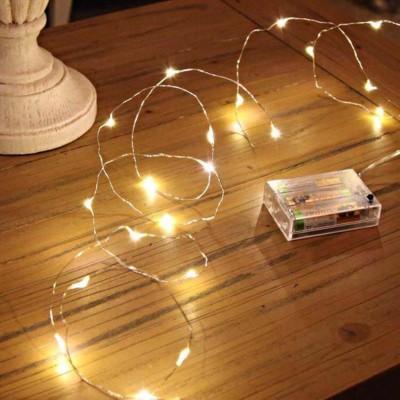 Gün Işığı Pilli Peri Led Yılbaşı Süsleme Işığı