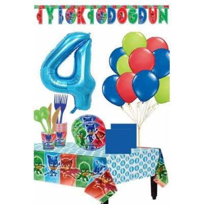 Pija Maskeliler 4 Yaş Doğum Günü Parti Seti