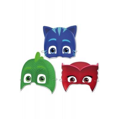 Pijamaskeliler maskesi: 1 Kedi Çocuk + 1 Baykuş Kız + 1 Kertenkele