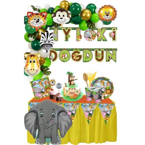 Safari Doğum Günü Seti (16 Kişilk)