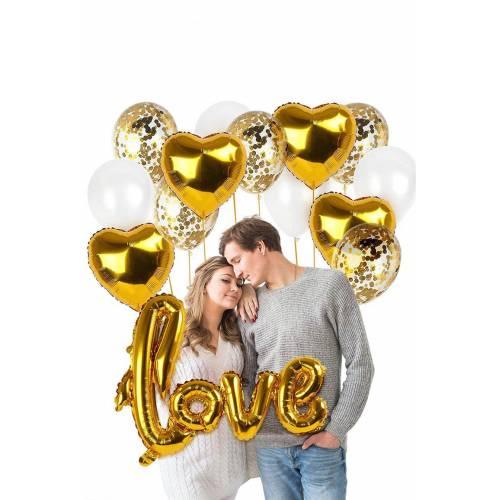 Sevgililer Günü Özel Parti Seti Gold